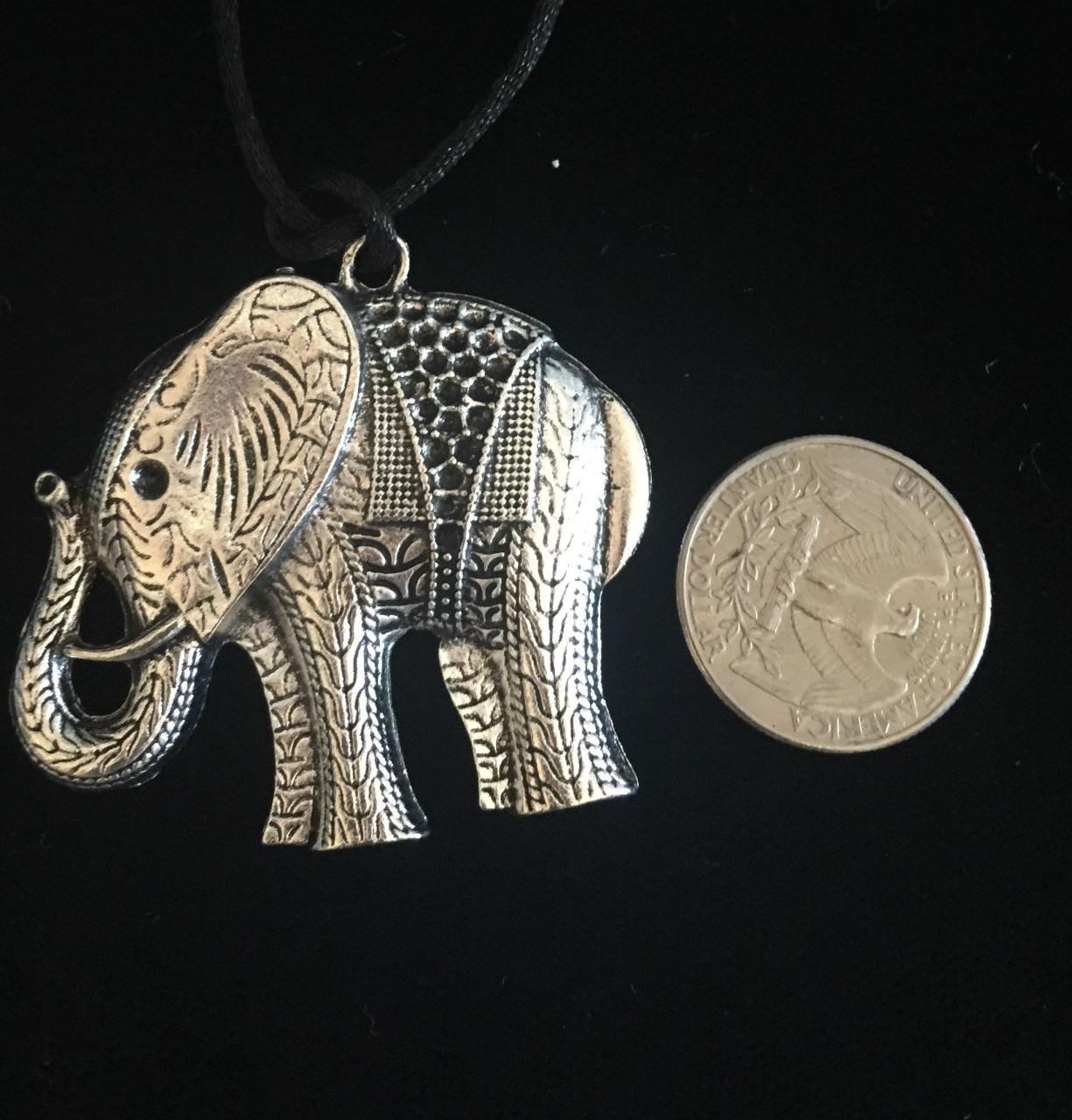 card charm dream plated big necklace large gold jewellery cngel elephant message with lily in editorial charmed